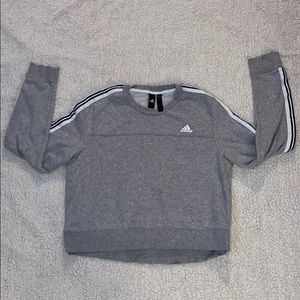 Grey Adidas Cropped Crewneck